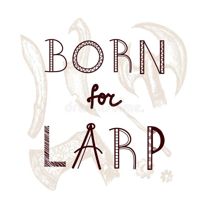 Carregado para o grupo de LARP ilustração stock