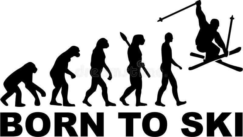 Carregado a Ski Stunt Evolution ilustração royalty free