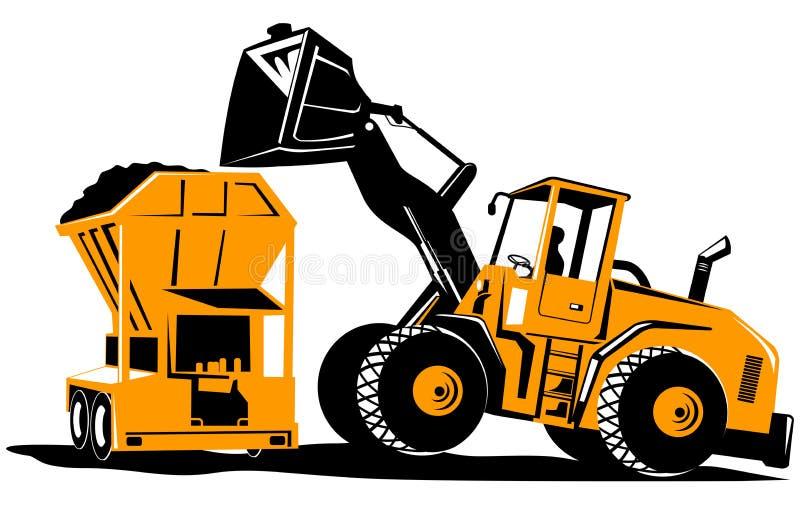 Carregador dianteiro ilustração royalty free
