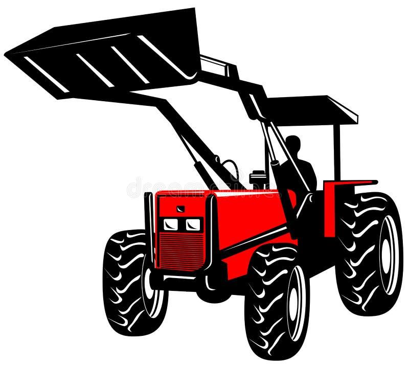 Carregador dianteiro no branco ilustração do vetor