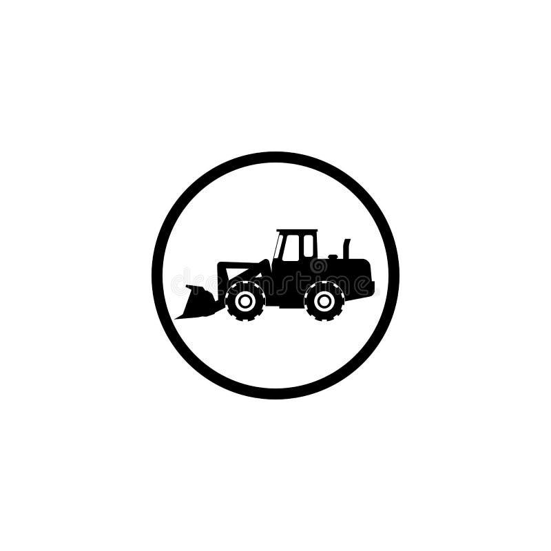 Carregador do ícone em um fundo branco em um círculo preto ilustração royalty free