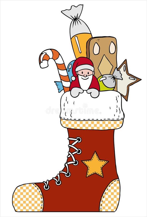 Carregador do Natal ilustração stock