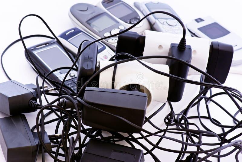 Carregador do telefone de pilha imagens de stock