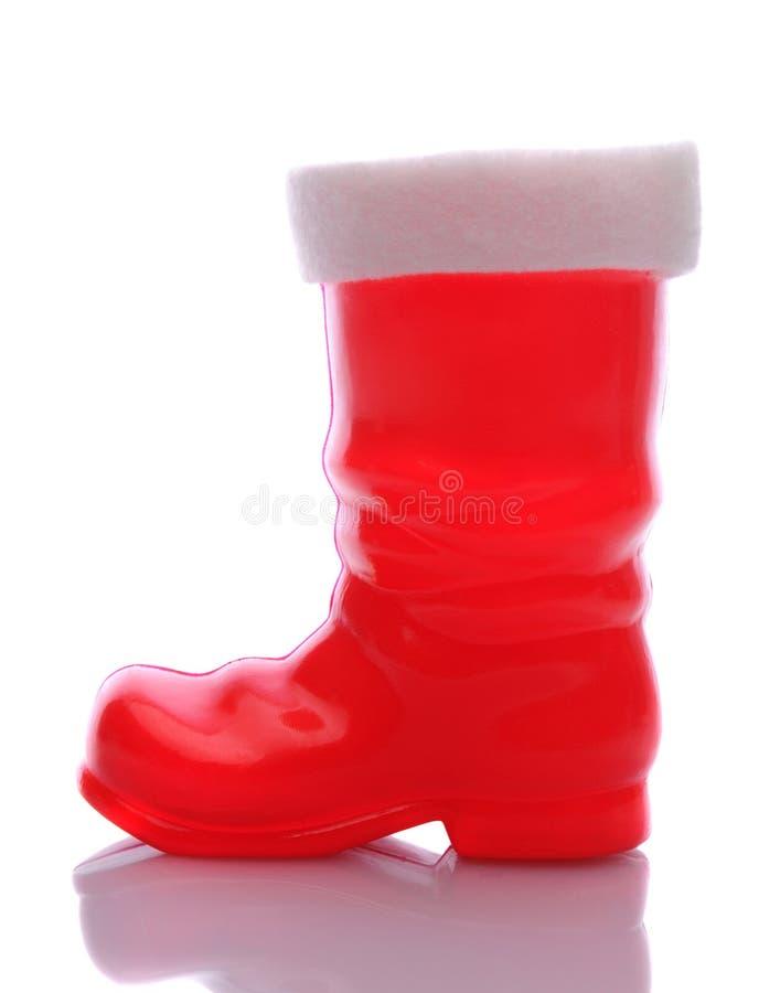 Carregador vermelho de Papai Noel fotografia de stock