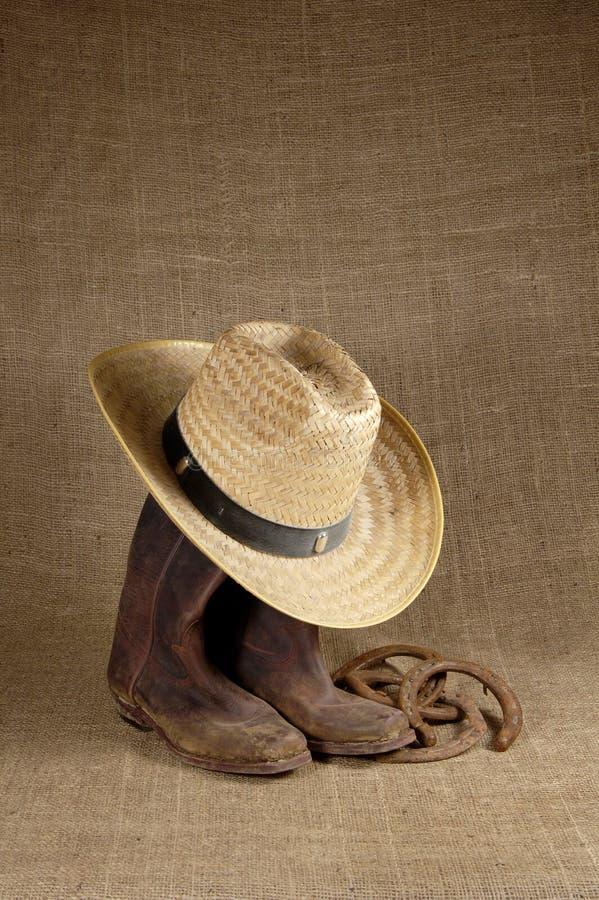 Carregadores, chapéu e ferraduras 1 imagem de stock