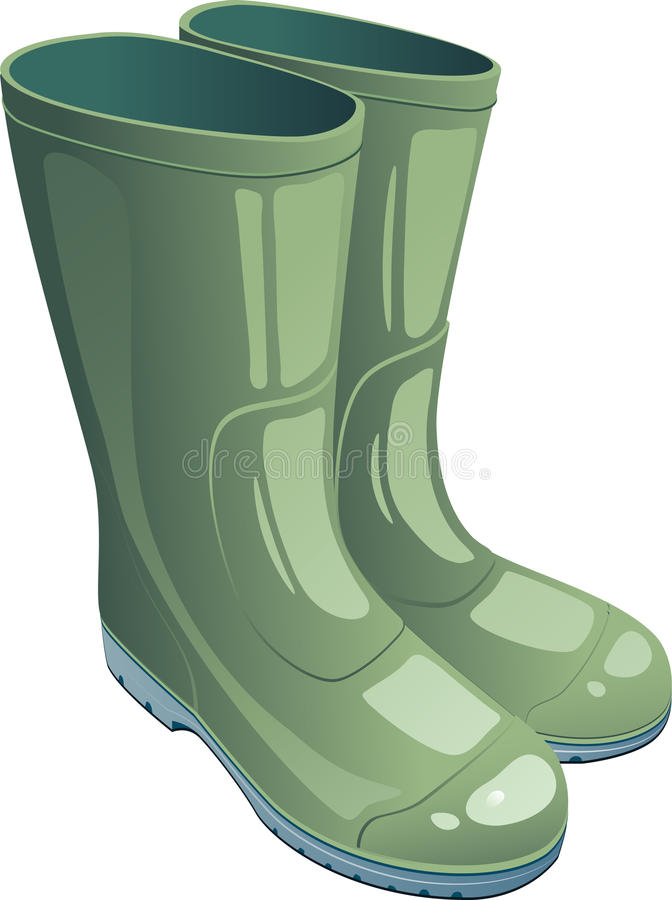 Carregadores de borracha verdes ilustração stock