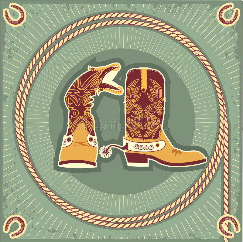 Carregadores de cowboy. Vintage ilustração royalty free