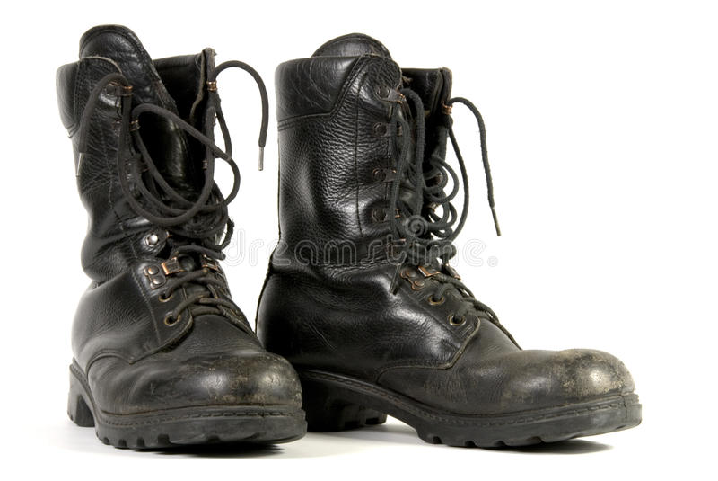 Carregadores pretos do exército imagens de stock