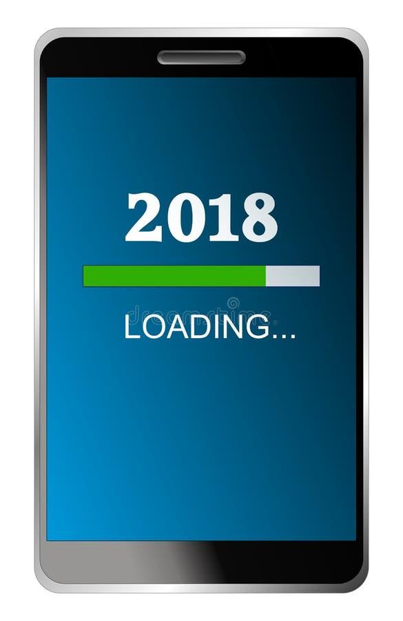 Carregamento do ano novo 2018 acessível ilustração stock