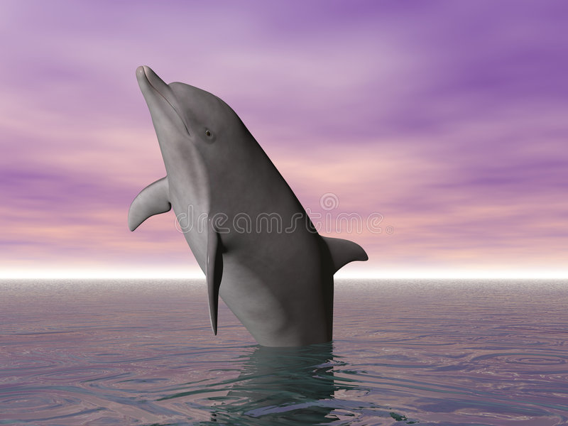 Carregando o golfinho ilustração do vetor
