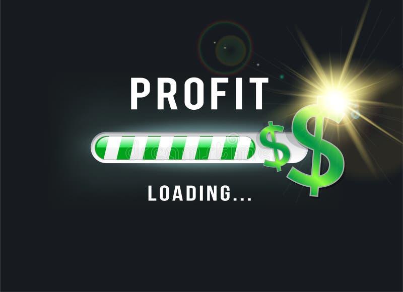 Carregando seu lucro do dólar ilustração royalty free