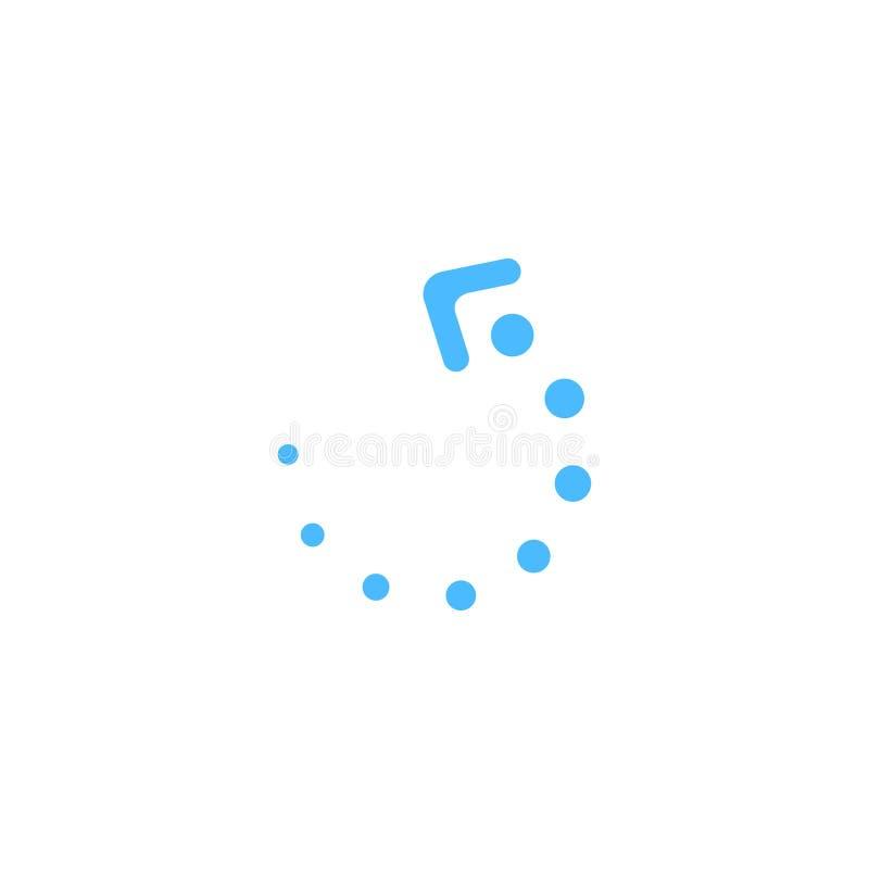 Carregar assina no formulário de pontos azuis ilustração royalty free