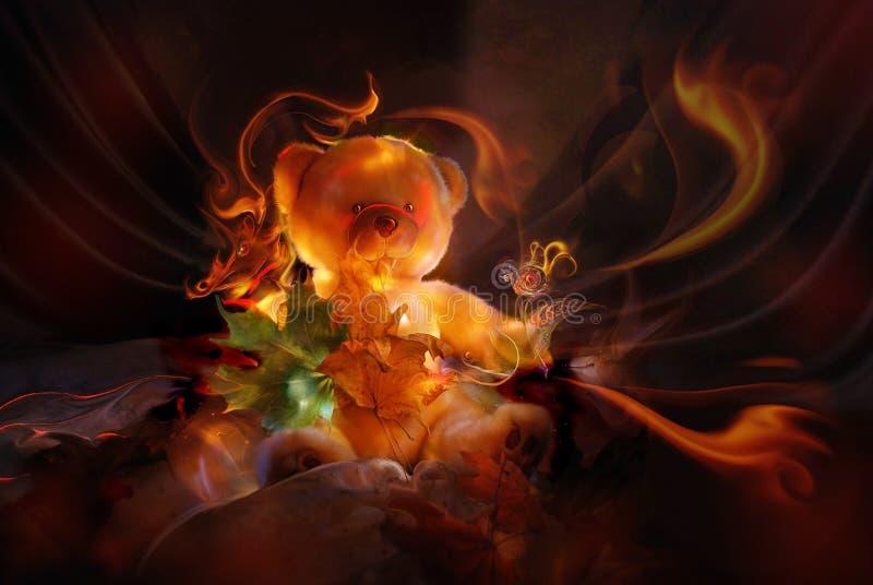 Carregar-filhote de um fairy-tale ilustração royalty free