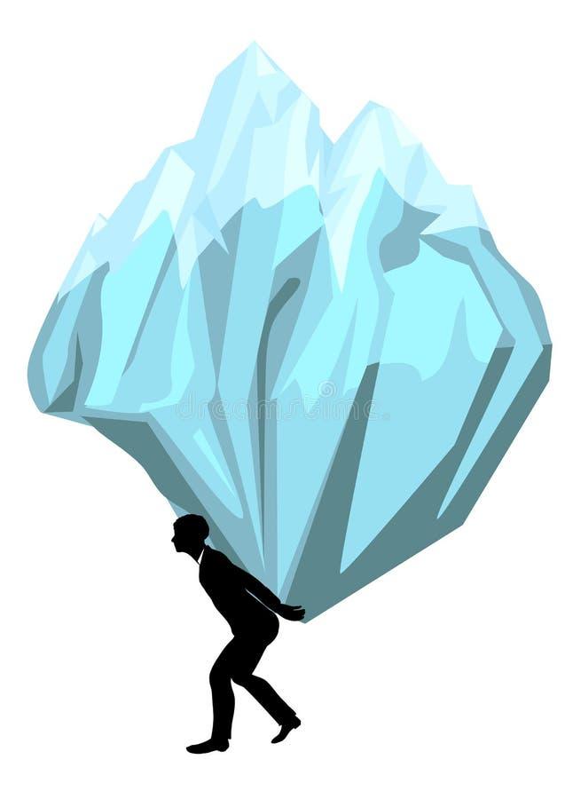 carregar homem com uma montanha ilustração do vetor