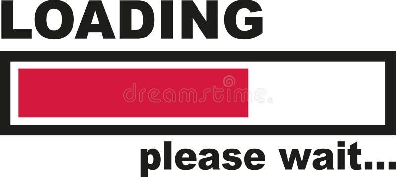 Carregar por favor espera - a barra ilustração stock