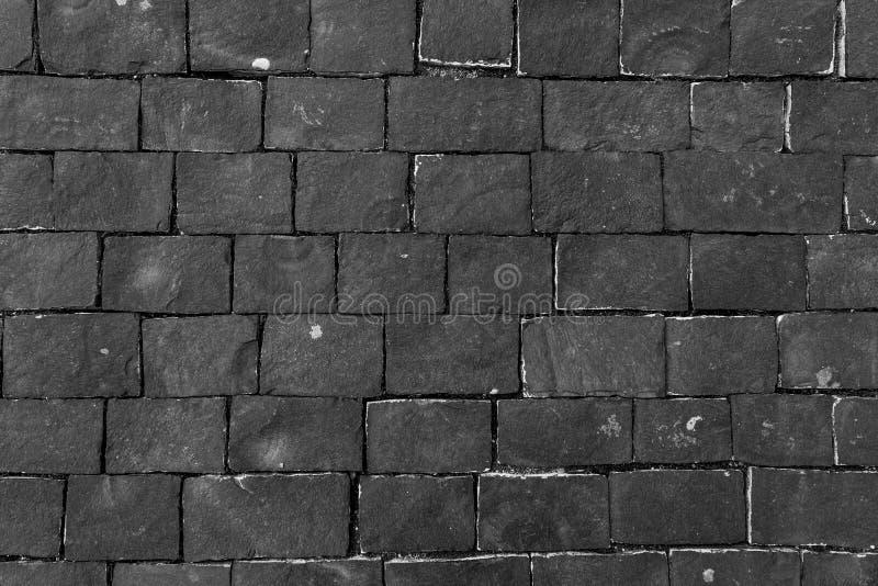 Carreggiata scura della pietra per lastricati fotografia stock libera da diritti