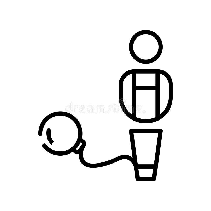 Carregue o vetor do ícone isolado no fundo branco, sinal da carga, l ilustração stock