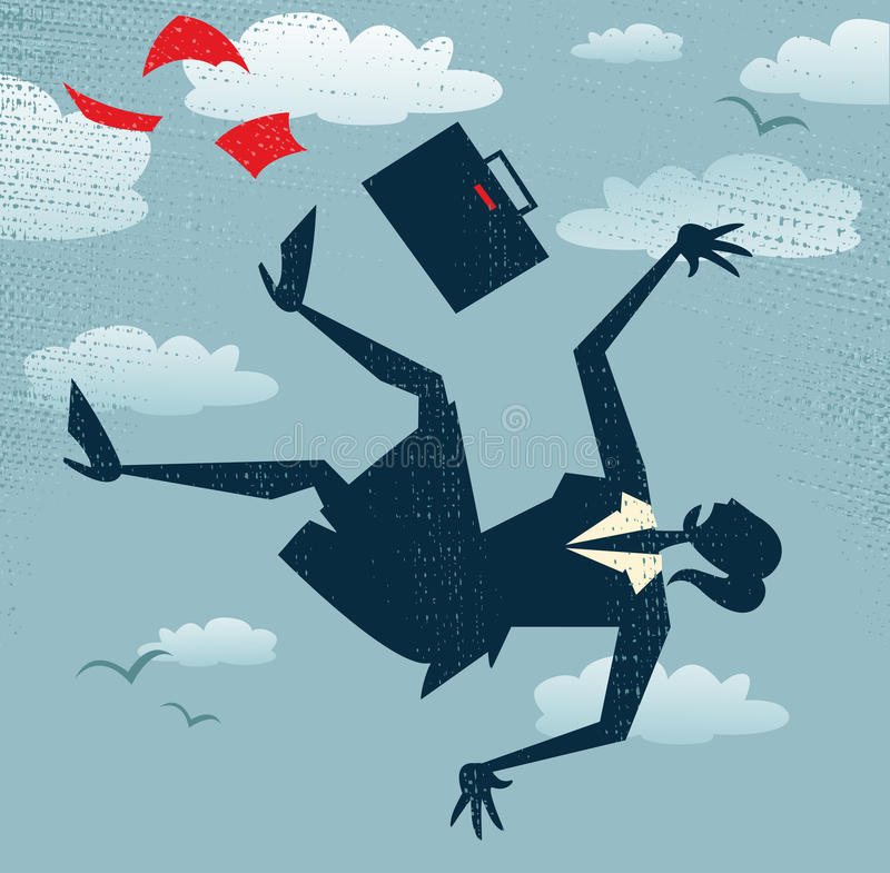 A carreira abstrata de Businesswomans realiza-se na queda livre ilustração do vetor