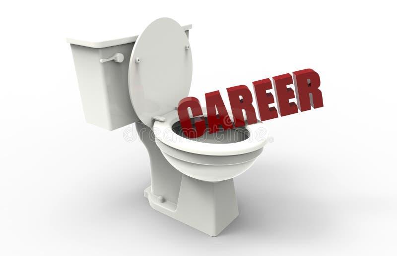 Carreira na metáfora do toalete ilustração do vetor