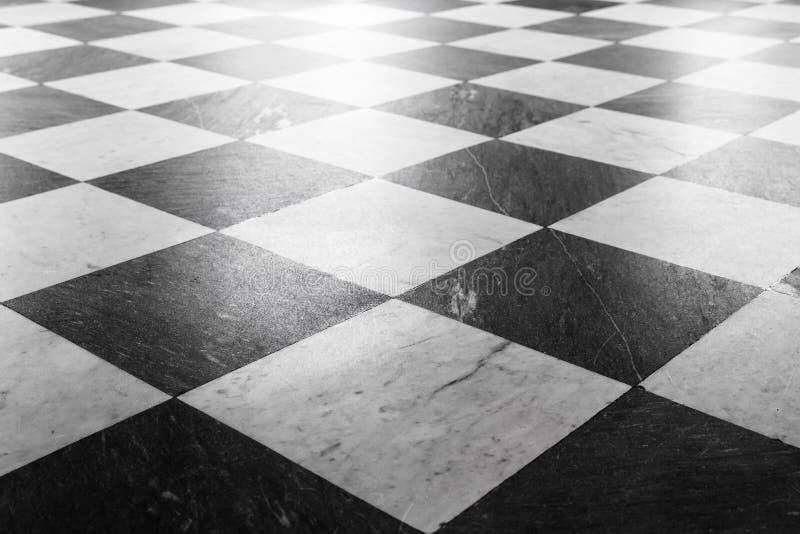 Carrelage en pierre brillant de plancher avec le modèle à carreaux images libres de droits