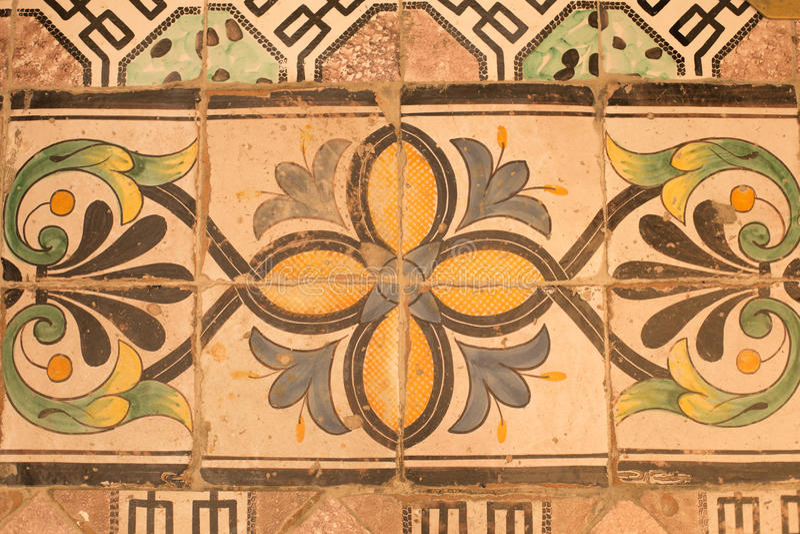 Carrelages de vintage en cathédrale de San Pantaleone, Ravello, Italie photos libres de droits
