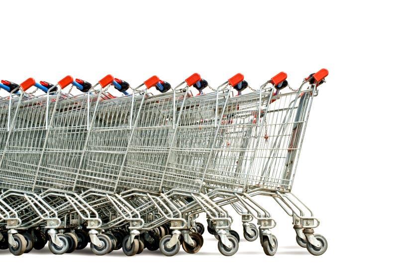 Carrelli di acquisto immagine stock libera da diritti