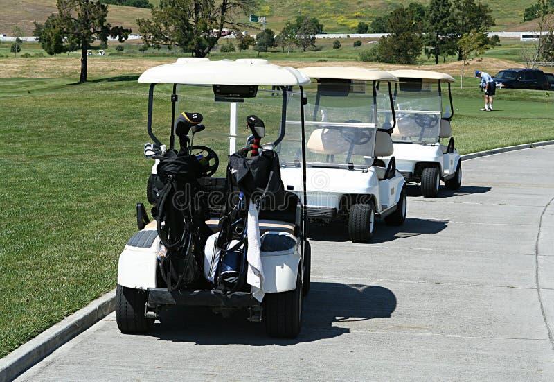 Carrelli di golf fotografia stock