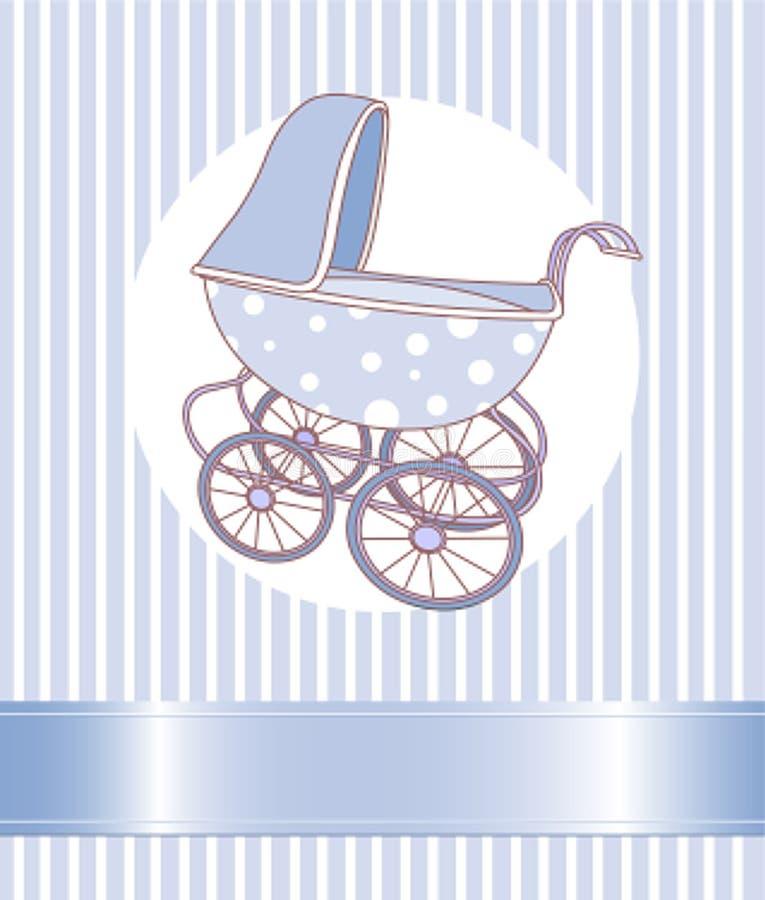 Carrello del neonato illustrazione vettoriale