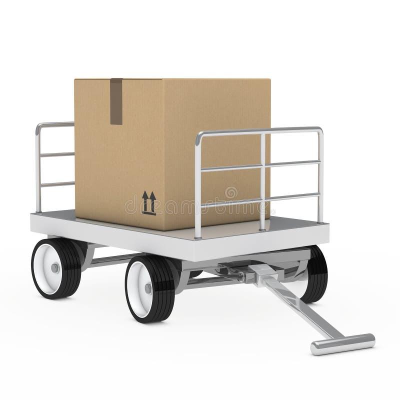Carrello del pacchetto di trasporto illustrazione vettoriale
