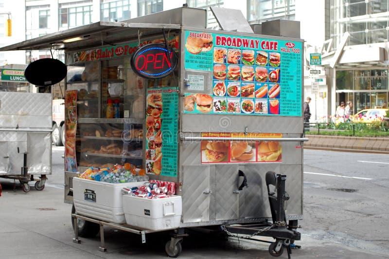 Carrello dell'alimento di New York immagine stock