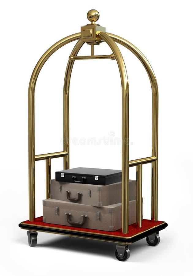 Carrello della Bell su bianco illustrazione di stock