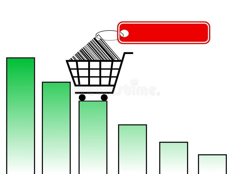 Carrello di acquisto illustrazione di stock