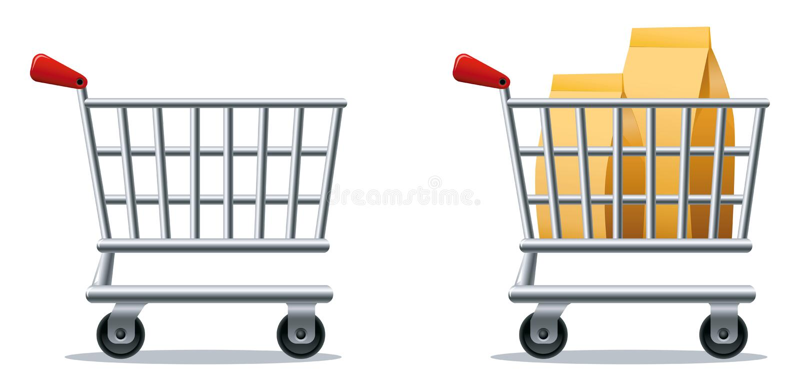 Carrello di acquisto illustrazione vettoriale