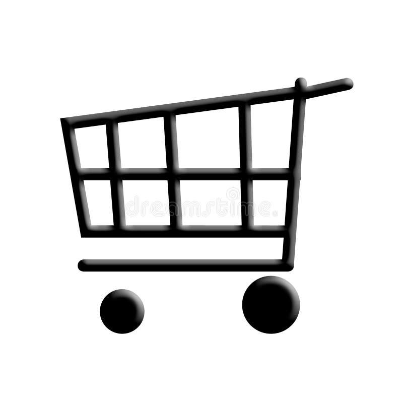 Carrello di acquisto. illustrazione di stock