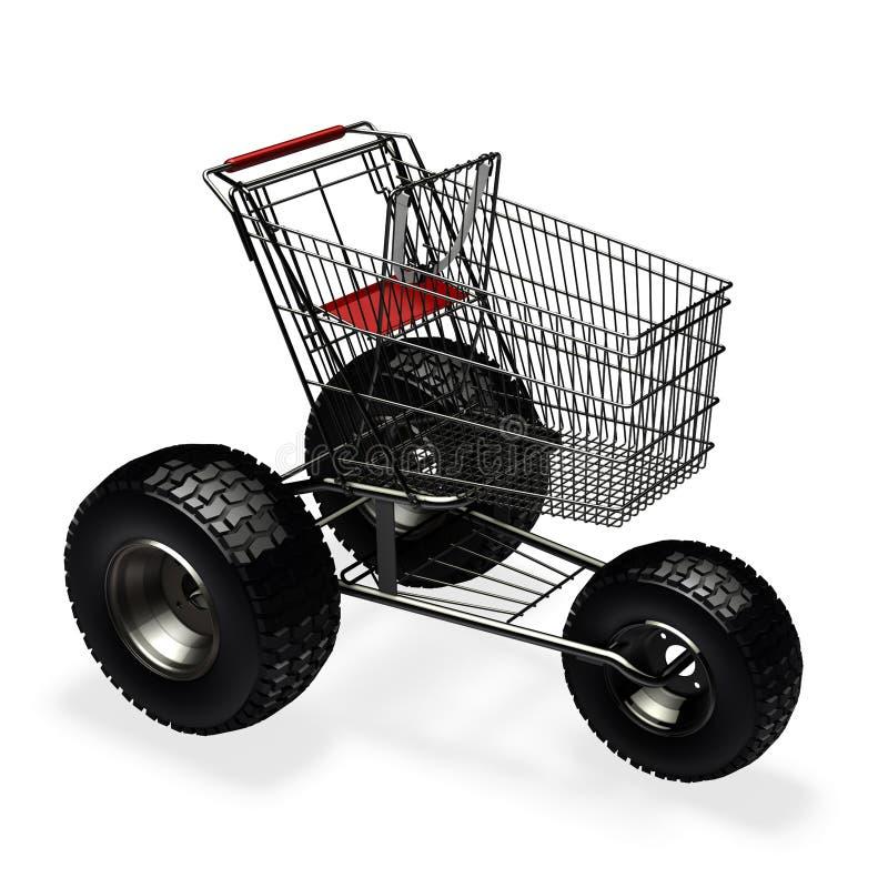 Carrello di acquisto di velocità del Turbo illustrazione di stock