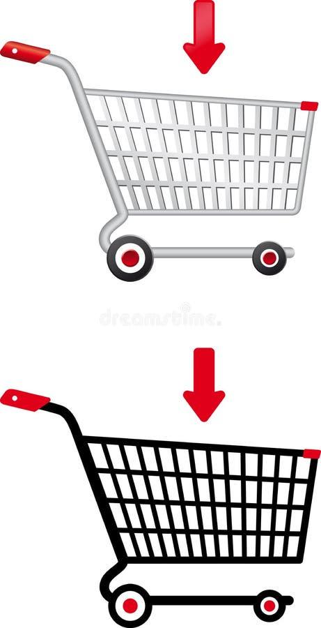 Carrello di acquisto di vettore illustrazione di stock