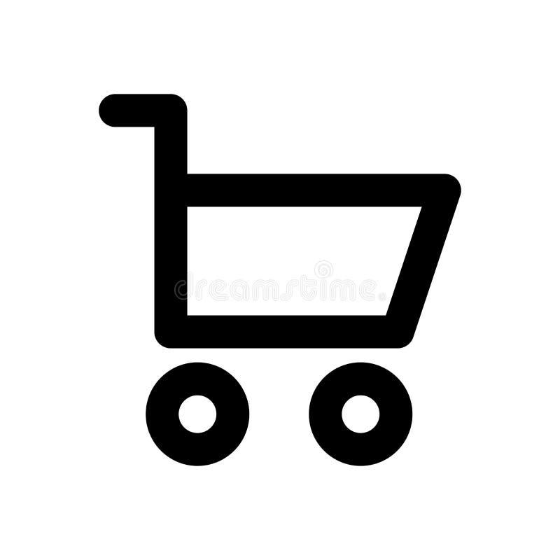 Carrello di acquisto Icona lineare Icona lineare di web illustrazione vettoriale