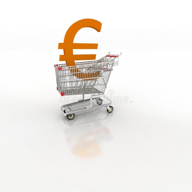 Carrello di acquisto - sho di commercio elettronico fotografia stock