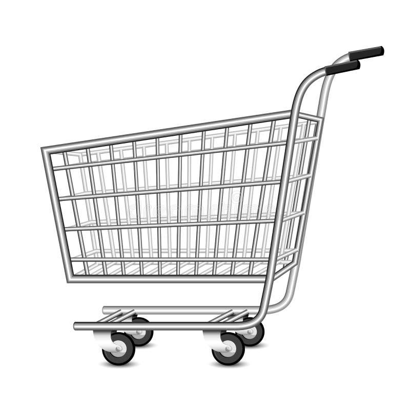 Carrello di acquisto vuoto illustrazione vettoriale