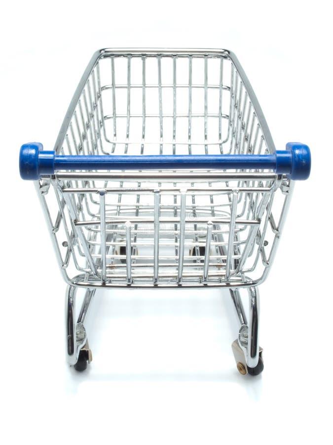 Carrello di acquisto vuoto dal punto di vista del cliente fotografie stock