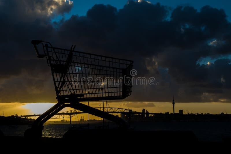 Carrello di Auckland immagini stock libere da diritti