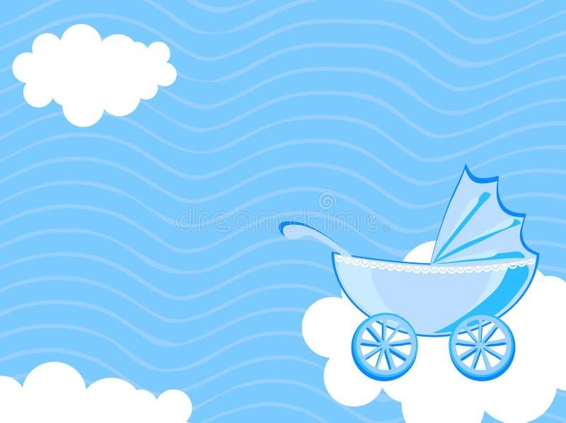 Carrello di bambino illustrazione di stock
