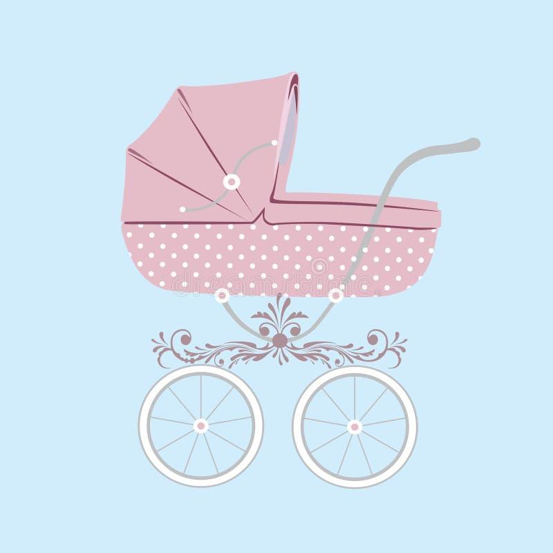 Carrello di bambino. royalty illustrazione gratis