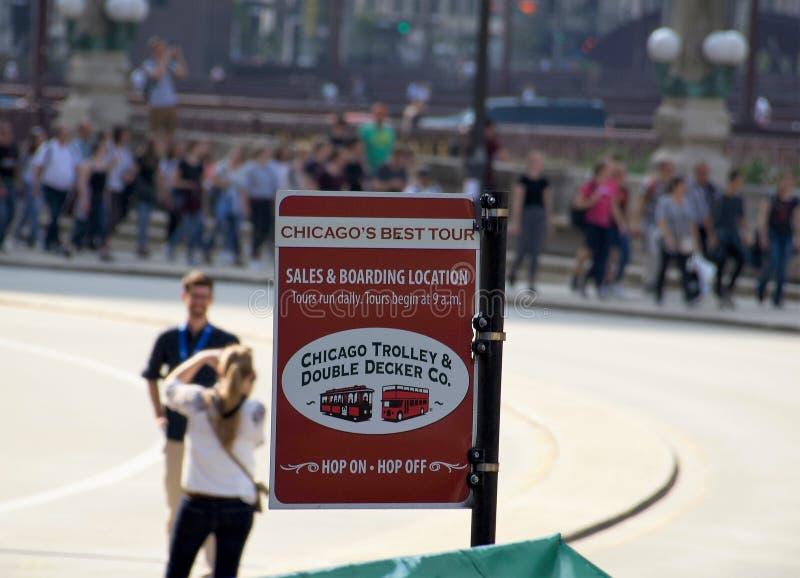 Carrello di Chicago e doppio Decker Company fotografia stock libera da diritti