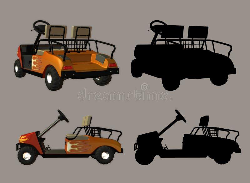 Carrello di golf illustrazione vettoriale
