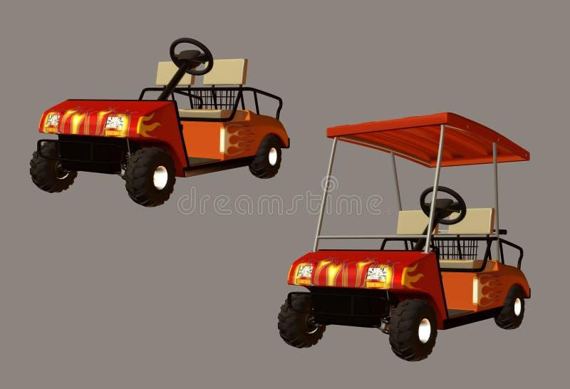 Carrello di golf illustrazione di stock