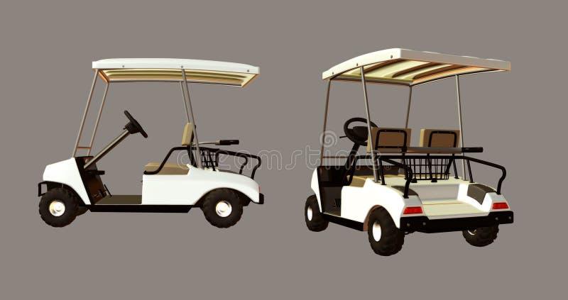 Carrello di golf royalty illustrazione gratis