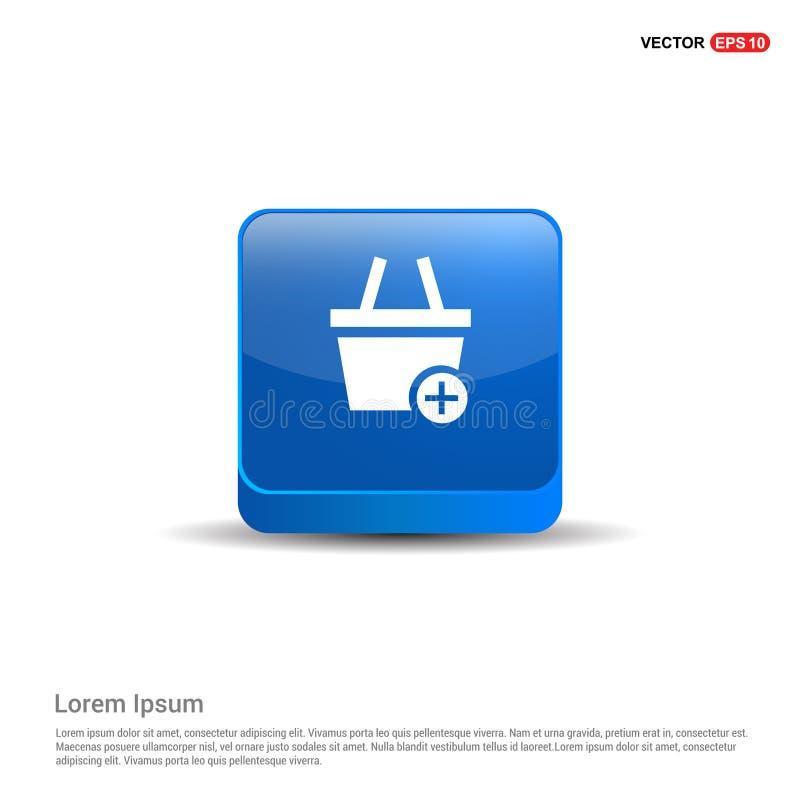Carrello e più - bottone del blu 3d royalty illustrazione gratis