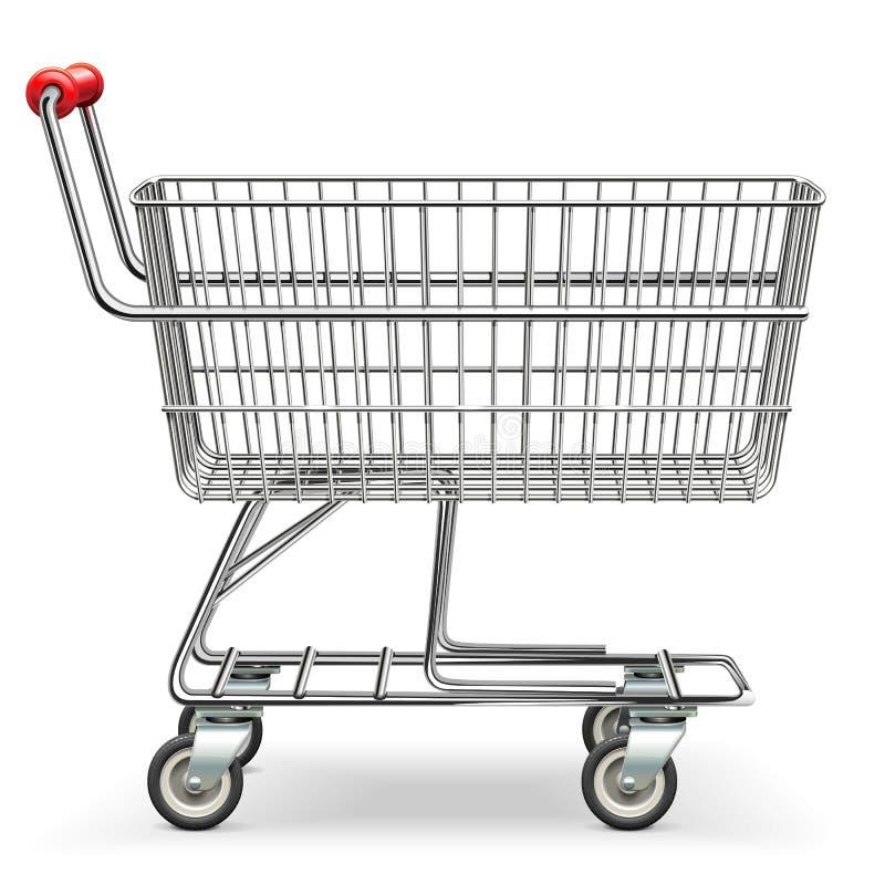 Carrello vuoto del supermercato di vettore royalty illustrazione gratis