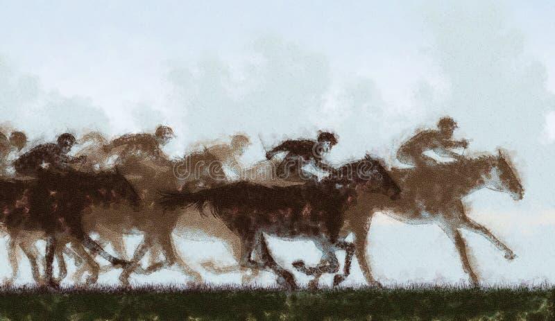 Carrera de caballos ilustración del vector
